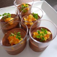 ミントとオレンジのムース・オ・ショコラ