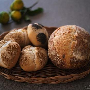 青ゆず酵母の白生地ハード系パン「カンパーニュ」と「カイザーゼンメル」