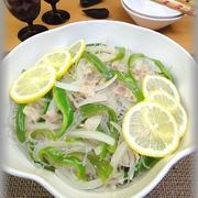 【アジアン風】春雨と野菜のナンプラー炒め