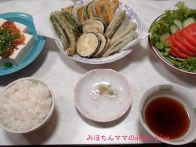 ☆今日の夕食~夏野菜の天ぷら&簡単サクサク天ぷらの作り方☆