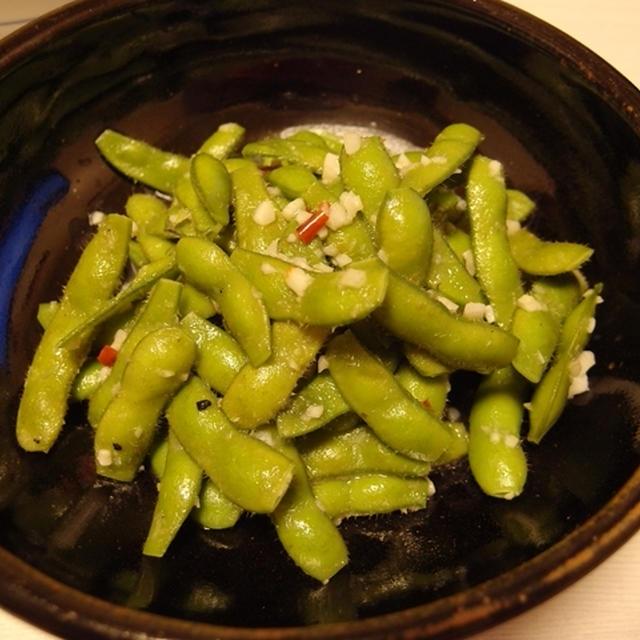 にんにく味覇枝豆・かつおと新生姜の梅煮・アボカドとモッツァレラの塩昆布サラダ