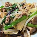 【レシピ】仕事運、健康運、財運、家庭運アップ!ひき肉とニラときのこの炒めもの