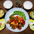【家ごはん/献立】 スタミナ韓国料理! [レシピ] ニンニク ヤンニョムチキン / 中華風コーン卵スープ