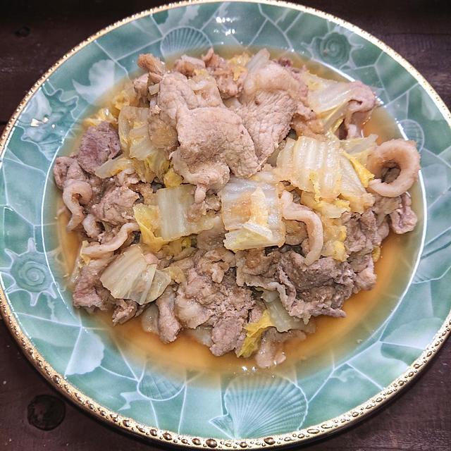 豚肉と白菜と大根おろしのさっぱりぽん酢みぞれ煮(ヘルシー、ダイエット)