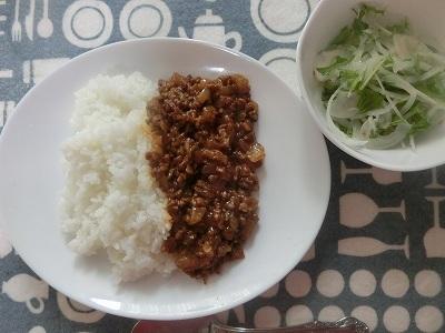 大豆のお肉を使いキーマカレー!大豆嫌いのSさん完食!!