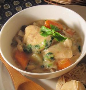 真鯛の味噌味豆乳シチュー風煮込み