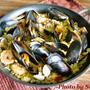 貝と海老のサフランリゾットのレシピ
