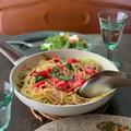 小松菜トマトのナンプラースパゲティ