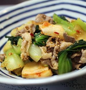19/05/21 チンゲン菜と豚肉とキムチのポン酢和え