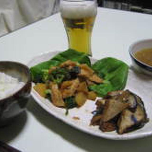 鶏肉とジャガイモの味噌バター炒め。
