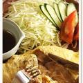 男子ごはん!豚の生姜焼きオムレツ