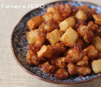 【長芋のレシピ】長芋と鶏ひざナンコツの唐揚げと、長芋の赤しそ漬け