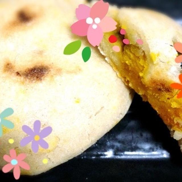 マクロビカボチャの大豆粉おやき