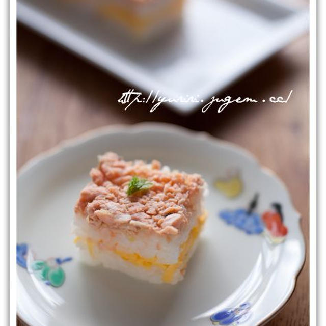 鮭そぼろの押し寿司