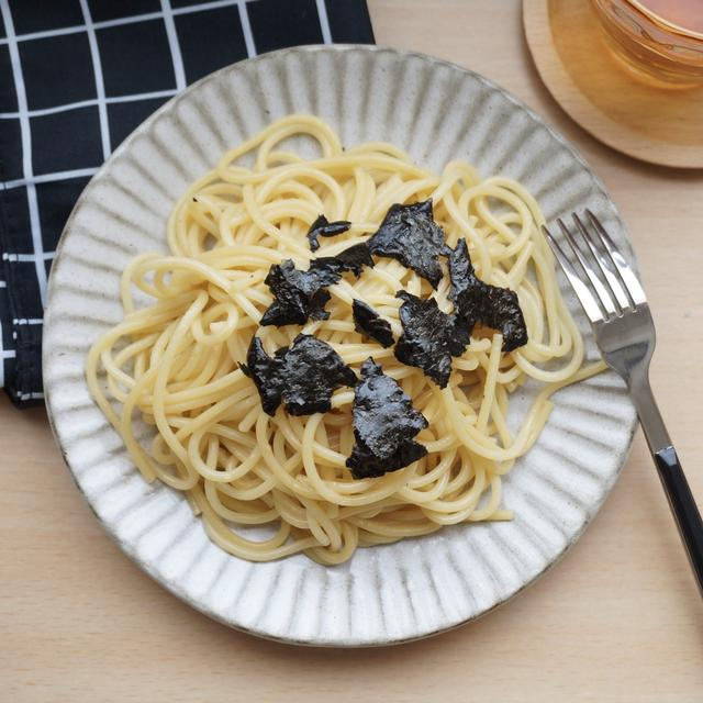 シンプルにおいしい!海苔わさびパスタ#ランチ#スパゲッティ#簡単#和風パスタ