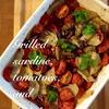 オイルサーディン、トマト、じゃがいものグリル