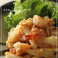 海老と長芋の味噌たま炒め