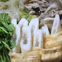 モランボン PREMIUM 地鶏だしちゃんこ鍋でレシピ「きりたんぽ鍋」♪