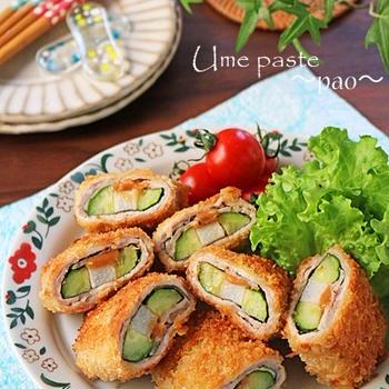揚げない長芋ときゅうりのサクサク梅肉豚巻きフライ!スパイスブログ連載