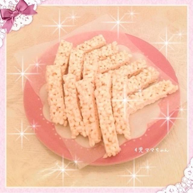 簡単・マシュマロバー(ライスパフ)☆レシピ