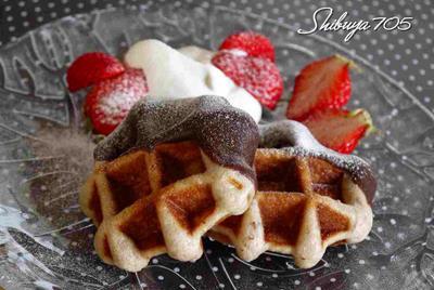☆休日の朝食はワッフルで!~3種のワッフル~☆