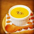 黄金比率で濃厚な仕上がり♪もち麦入り♪信州産りんごとかぼちゃのポタージュスープ。レシピ掲載
