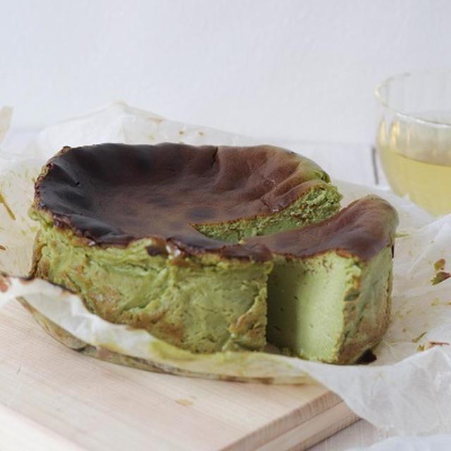 米粉レシピ:抹茶のバスクチーズケーキ ~グルテンフリーレシピ~