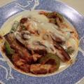 茄子とゴーヤをパスタソースとチーズでとろーり絡める 絶品の美味しさ