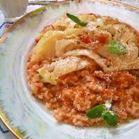 キャベツとパンチェッタのトマトリゾット ~ 新鮮な春キャベツで♪♪