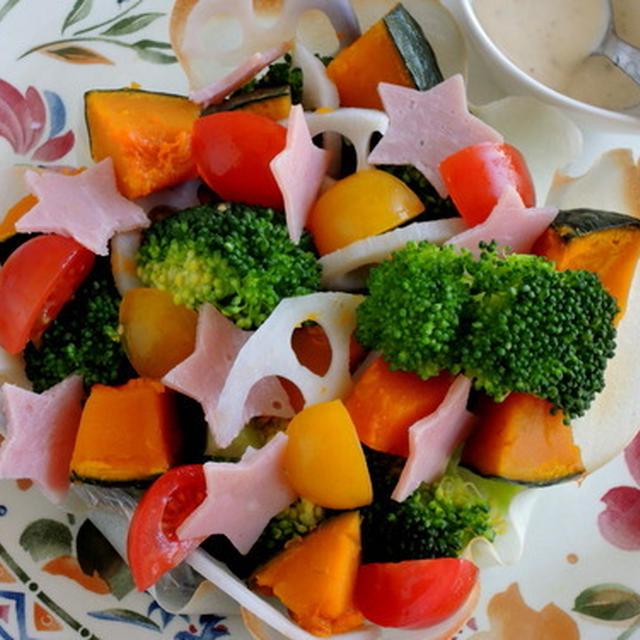 野菜をたっぷり食べる☆ひな祭りサラダ♪