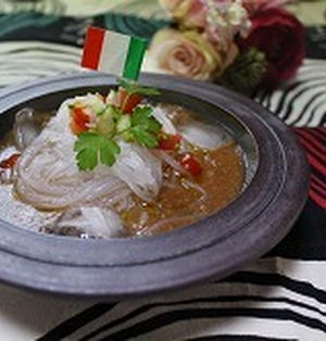 ヘルシー冷製トマト麺