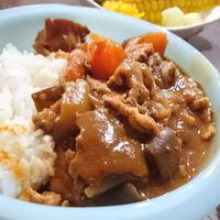 旨みたっぷり☆乾しいたけで具だくさんハヤシライス #宮崎 #乾しいたけ #夏野菜 #コシヒカリ