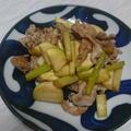 マコモダケと豚肉のさっぱり炒め