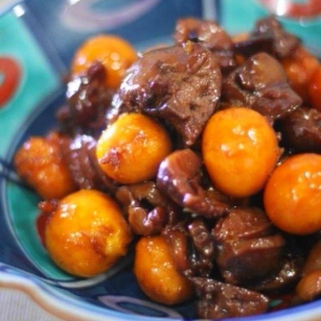 黒酢しょうが de たっぷりきんかんのオリジナル鳥もつ煮