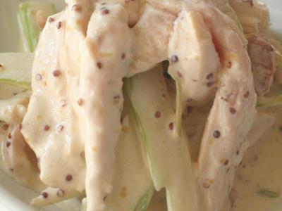 >サテンドール風若鶏のサラダ×流線長皿スクエア by samanthaさん