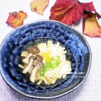 豆腐に、魔法をかけました。創作料理、名付けて『菊花温やっこ』手軽に本格的な味わい。