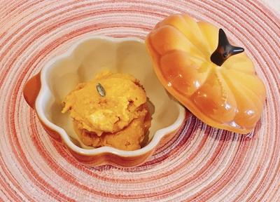 vitamixでパンプキンアイス ハロウインなので