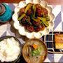 小松菜と肉団子の黒酢炒め