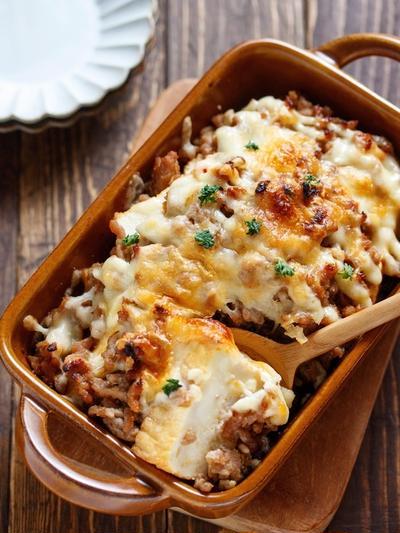 節約、簡単、がっつり、しかも糖質制限まで。四拍子そろってしまう「厚揚げの肉味噌チーズグラタン」の作り方