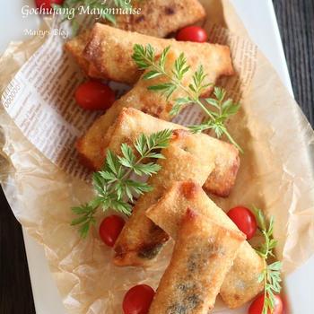 鶏胸肉の韓国風春巻き