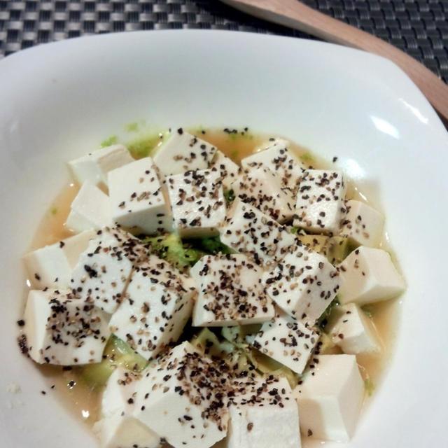 レンジでチン♪アボカドと豆腐のサッと煮