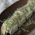 塩豆腐のアボカドディップ添え & からすみとしらすパスタで女子会