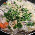 【ヤマキだし部】餃子の皮をプラス!豚しゃぶしゃぶ肉と大根うす切り鍋