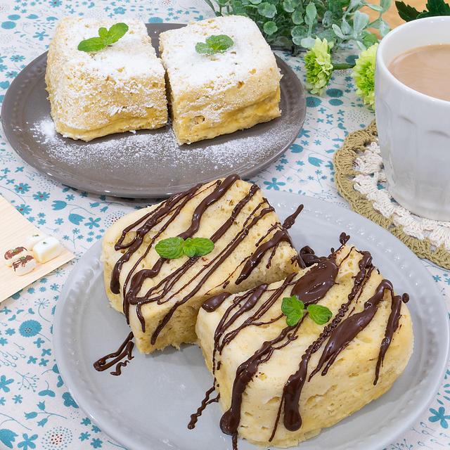 節約レシピ!チョコバナナ蒸しケーキ(*゚▽゚*)♪