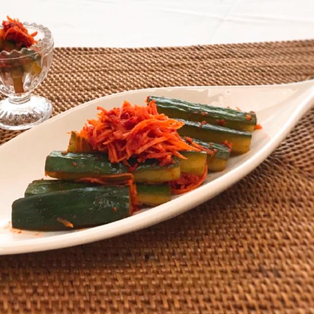 簡単&美味しいきゅうりキムチ(オイキムチ)