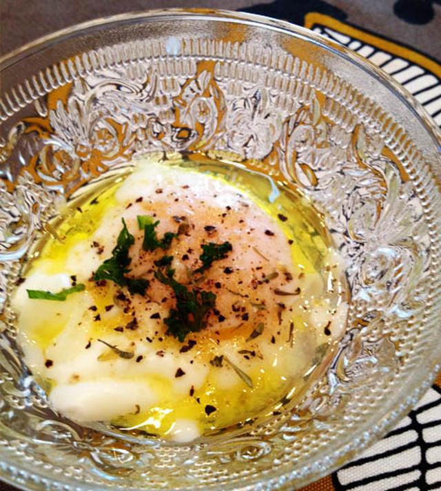 イタリアン風の温泉卵