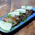 棒寿司のイメージで「牛タンのタレご飯のせ」&「ちょっと薄かったけど肉の旨みがギュッとしたビフカツ」
