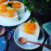 レシピブログアワード2018❤️お菓子部門レジェンド入り❤️と、まるごとみかんの牛乳寒天ケーキ♪
