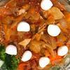 豚肩ロース厚切り肉のトマト煮