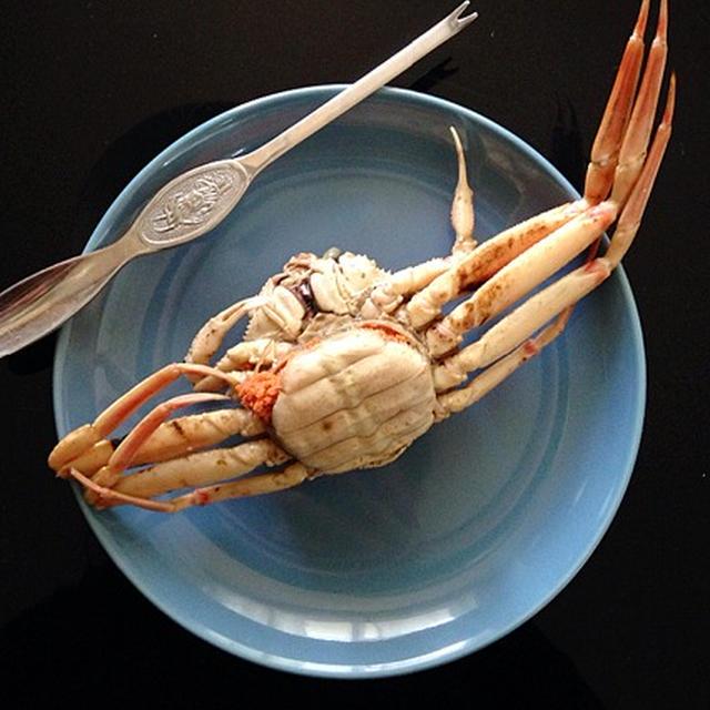 セコ蟹、酒蒸し甲羅焼き。